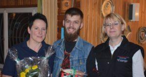 (v.l.) Indra Schünemann, Kevin Pook und Vorsitzende Sonja Schwiegmann